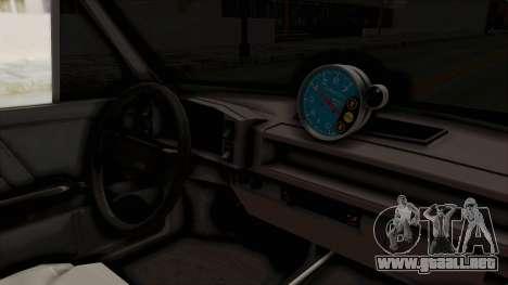 Fiat 128 De Picadas para visión interna GTA San Andreas