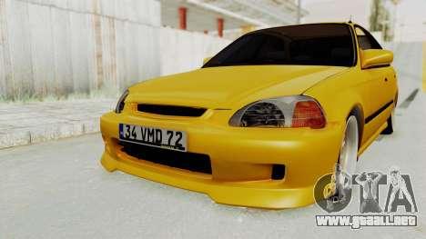 Honda Civic Vermidon para la visión correcta GTA San Andreas