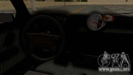 Fiat Uno para visión interna GTA San Andreas