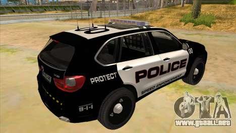 2014 BMW X5 F15 Police para la visión correcta GTA San Andreas
