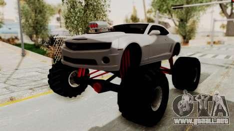 Chevrolet Camaro SS 2010 Monster Truck para la visión correcta GTA San Andreas