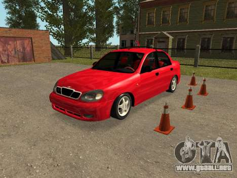 Daewoo Lanos (Sens) 2004 v1.0 by Greedy para vista inferior GTA San Andreas