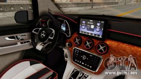 Mercedes-Benz V-Class 2015 para visión interna GTA San Andreas