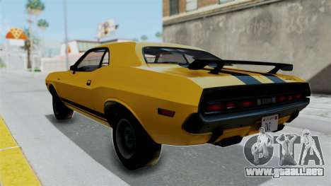 Dodge Challenger RT 440 1970 Six Pack para GTA San Andreas left
