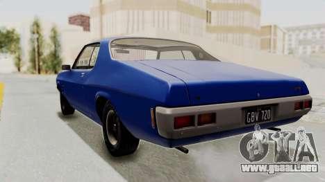 Holden Monaro GTS 1971 AU Plate IVF para GTA San Andreas left