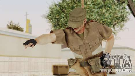 MGSV Phantom Pain CFA Soldier v2 para GTA San Andreas