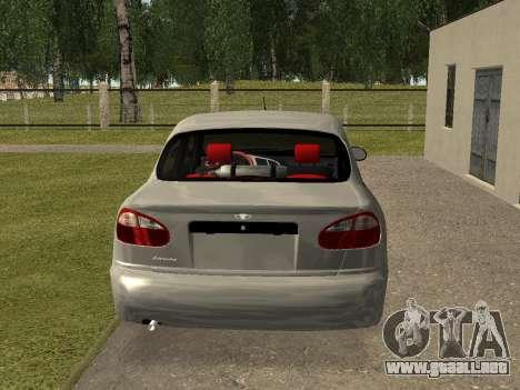 Daewoo Lanos (Sens) 2004 v1.0 by Greedy para GTA San Andreas vista posterior izquierda