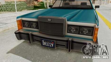 GTA 5 Dundreary Virgo Classic IVF para visión interna GTA San Andreas