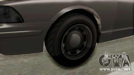 GTA 5 Vapid Stanier II Police Cruiser 2 IVF para GTA San Andreas vista hacia atrás