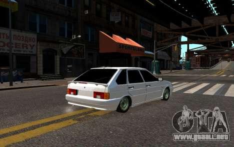VAZ 2114 Brodyaga para GTA 4 Vista posterior izquierda