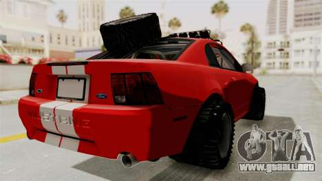 Ford Mustang 1999 Rusty Rebel para GTA San Andreas left
