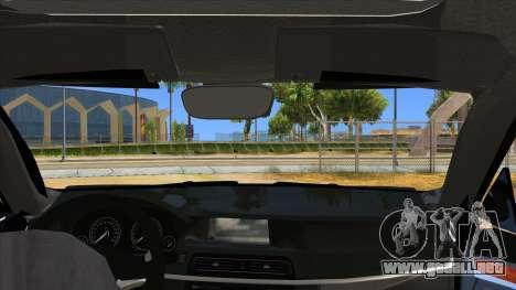 2014 BMW X5 F15 Police para visión interna GTA San Andreas