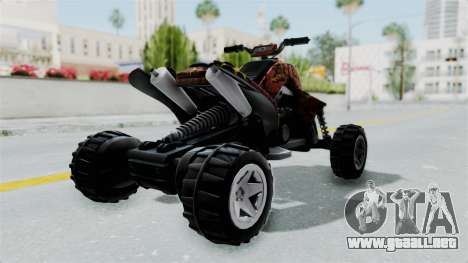 Sand Stinger from Hot Wheels Worlds Best Driver para GTA San Andreas vista posterior izquierda