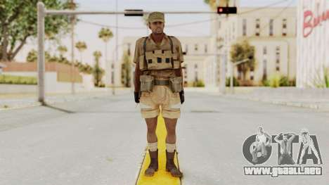 MGSV Phantom Pain CFA Combat Vest 1 v1 para GTA San Andreas segunda pantalla
