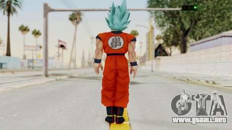 Dragon Ball Xenoverse Goku SSGGSS para GTA San Andreas tercera pantalla