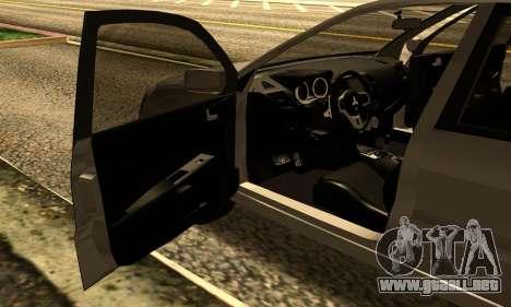 Mitsubishi Lancer 2005 para GTA San Andreas vista hacia atrás