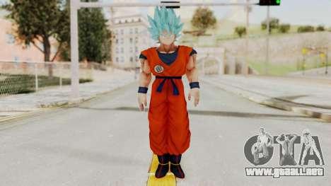 Dragon Ball Xenoverse Goku SSGGSS para GTA San Andreas segunda pantalla