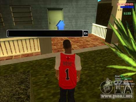 Fichas de hogares para la ARP para GTA San Andreas sucesivamente de pantalla