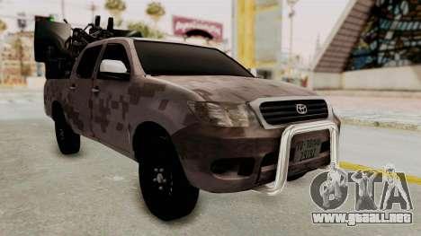 Toyota Hilux 2014 Army Libyan para la visión correcta GTA San Andreas