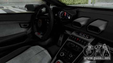 Lamborghini Huracan LP610-4 2015 Liberty Walk LB para visión interna GTA San Andreas