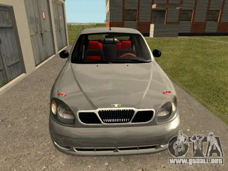 Daewoo Lanos (Sens) 2004 v1.0 by Greedy para la visión correcta GTA San Andreas