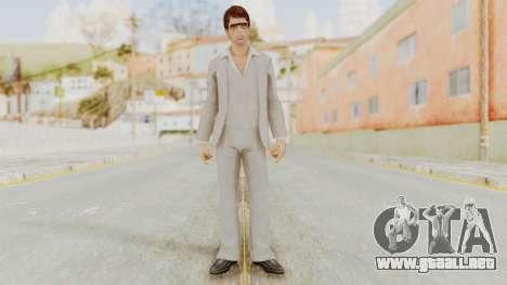Scarface Tony Montana Suit v1 with Glasses para GTA San Andreas segunda pantalla