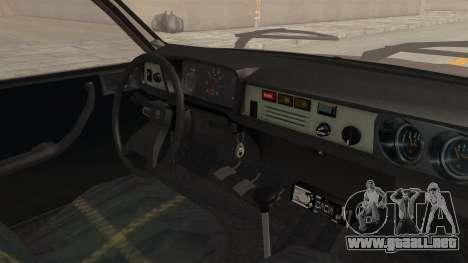 Dacia 1310 TX Tuning para visión interna GTA San Andreas