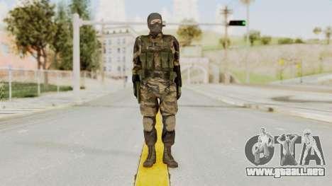 MGSV TPP Diamond Dog Combat Male para GTA San Andreas segunda pantalla