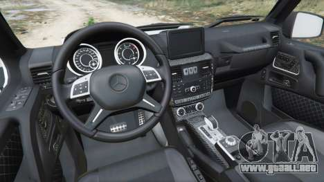 GTA 5 Mercedes-Benz G65 AMG 6x6 vista lateral trasera derecha