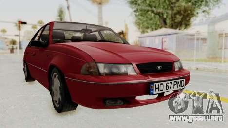 Daewoo Cielo 1.5 GLS 1998 para GTA San Andreas vista posterior izquierda