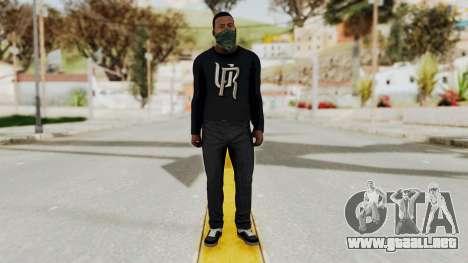 GTA 5 Franklin v1 para GTA San Andreas segunda pantalla