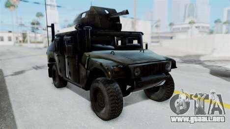Humvee M1114 Woodland para GTA San Andreas