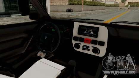 Tofas Dogan 1.6 para visión interna GTA San Andreas