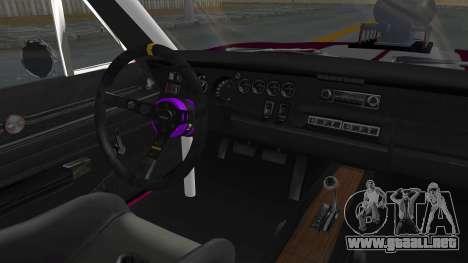 Dodge Charger 1969 Drag para visión interna GTA San Andreas
