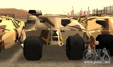 Army Tumbler Gun Tower from TDKR para la vista superior GTA San Andreas