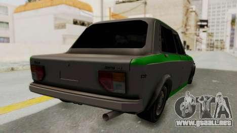 Fiat 128 De Picadas para GTA San Andreas vista posterior izquierda