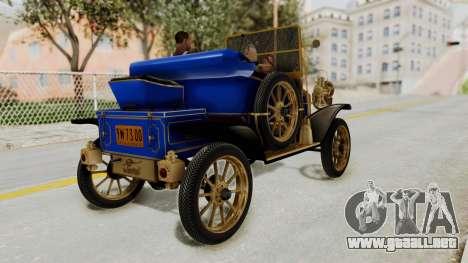 Ford T 1912 Open Roadster v2 para GTA San Andreas left