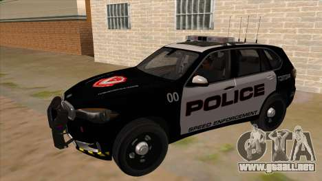 2014 BMW X5 F15 Police para GTA San Andreas