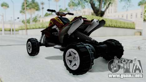 Sand Stinger from Hot Wheels v2 para GTA San Andreas vista posterior izquierda
