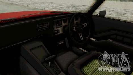 Holden Monaro GTS 1971 SA Plate IVF para visión interna GTA San Andreas