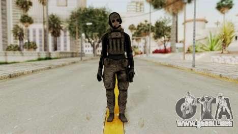Phantomers Linda Sashantti Soldier para GTA San Andreas segunda pantalla