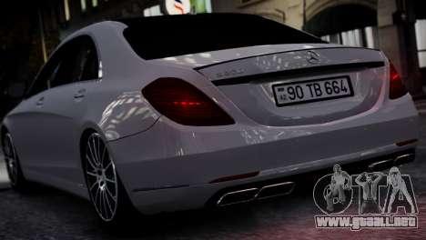Mercedes-Benz w222 para GTA 4 visión correcta