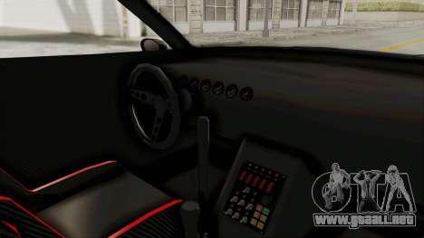 GTA 5 Annis Elegy Twinturbo Spec para visión interna GTA San Andreas