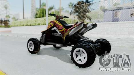 Sand Stinger from Hot Wheels Worlds Best Driver para GTA San Andreas left