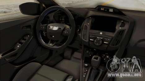 Ford Focus RS 2017 Rocket Bunny para visión interna GTA San Andreas