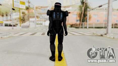ME2 Shepard Default N7 Armor with Capacitor Helm para GTA San Andreas tercera pantalla
