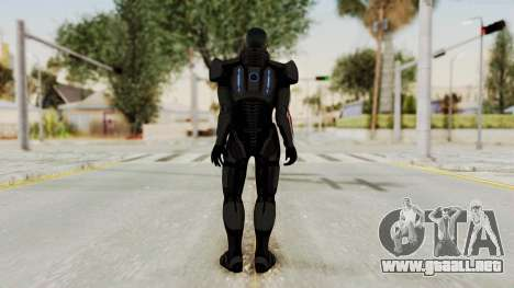 Mass Effect 2 Shepard Default N7 Armor No Helmet para GTA San Andreas tercera pantalla