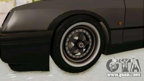 Ford Sierra Mk1 Drag Version para GTA San Andreas vista hacia atrás
