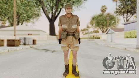 MGSV Phantom Pain CFA Soldier v2 para GTA San Andreas segunda pantalla