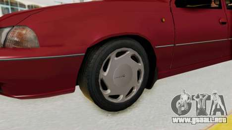 Daewoo Cielo 1.5 GLS 1998 para GTA San Andreas vista hacia atrás